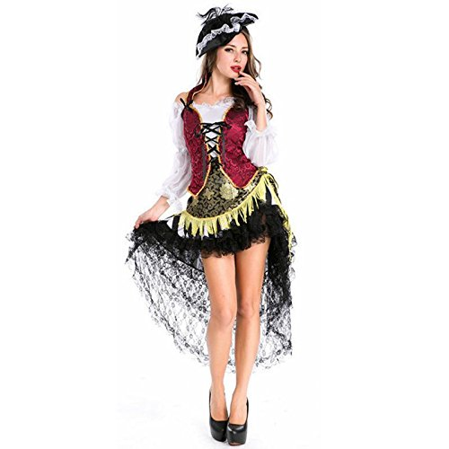 Gothic Victorian Dress Pirate Costume Female Halloween Costumes