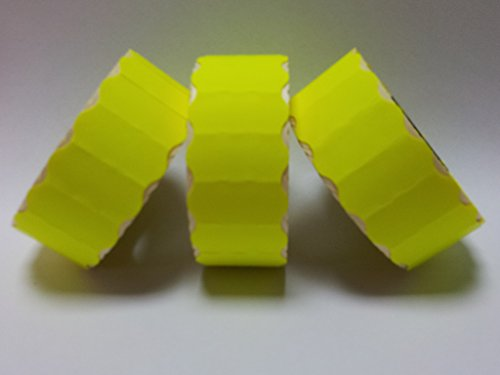 CT426mm x 12mm Prix Gun Labels-Étiquettes-jaune fluo-Permanent 30rouleaux/45000étiquettes