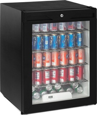Black Glass Refrigerator front-602938