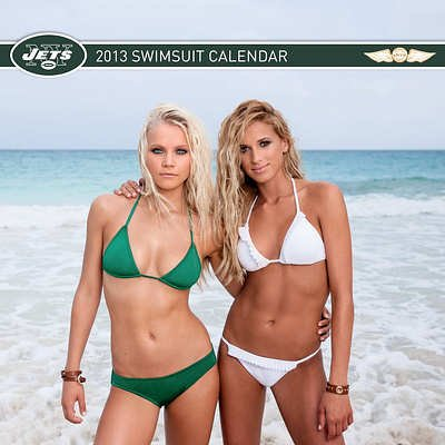 (12x12) New York Jets Cheerleaders Swimsuit - 2013 Wall Calendar at Amazon.com