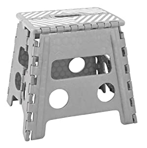 Amazon Com Simplify 13 Inch Folding Step Stool Grey