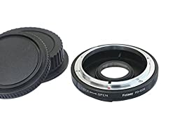 Fotasy EFFD Canon FD FL Mount Lens to Canon EOS EF Mount Camera Adapter with Glass Element