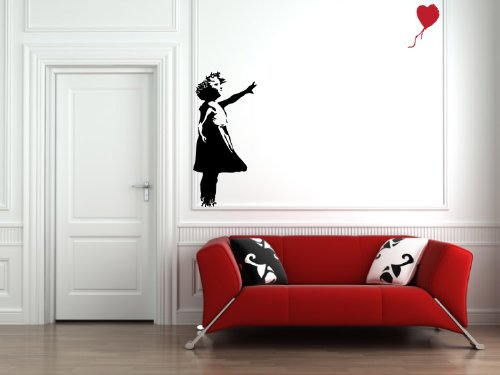 Red Balloon Girl - Wall Vinyl Decal