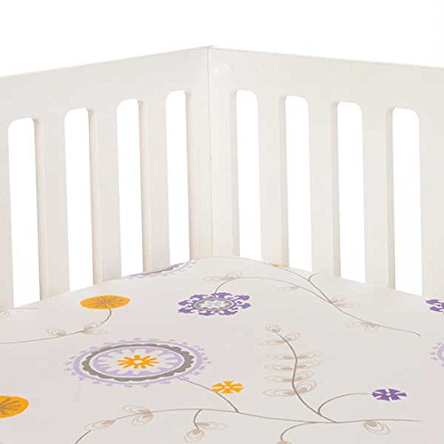 Sweet Potato Fiona Fitted Sheet Floral, Purple/White/Grey/Yellow