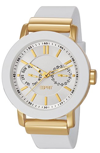 Esprit ES105622003 - Reloj analógico de cuarzo para mujer con correa de plástico, color blanco
