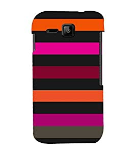 Dashing Color Pattern 3D Hard Polycarbonate Designer Back Case Cover for Micromax Bolt S301