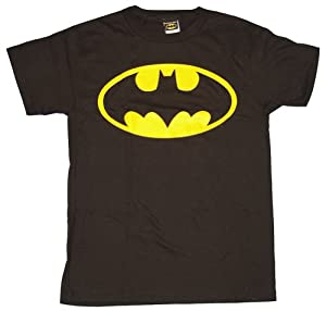 Classic Batman Bat Logo T-shirt - Medium (Black)