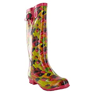 U96 Ladies Jelly Bean Candy Wellington Boots Sizes 3-8