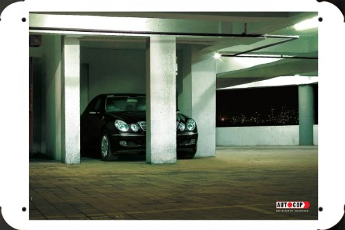 Metal Poster Tin Plate Sign of Car Security Solutions: Parking Lot 20*30cm