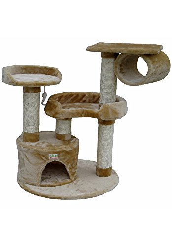 Go Pet Club 39-Inch Cat Tree, Beige