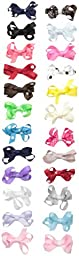 Little Me Little Girls 24 Grosgrain Mini Bow Clippies, Assorted, Infant-Toddler