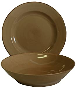 Tag Sonoma Ironstone Ceramic Dinnerware Serving Bowl and Platter Set, Tan