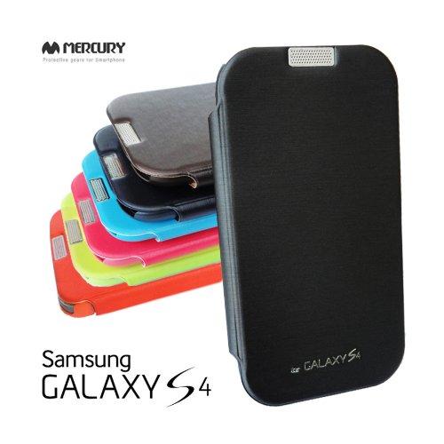 2点セット GALAXY S4 MERCURY デザイン フリップ カバー ケース カード 収納機能 ワンセグ対応 ワンセグアンテナ対応( docomo Galaxy S4 SC-04E / Samsung Galaxy S IV 2013年モデル 対応)ギャラクシー エスフォー ケース ドコモ カバー ジャケット Flip Cover CaseStylish Black(黒 黒色 ブラック ) 1306003