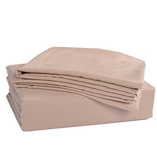 Honeymoon-Solid-3PC-Microfiber-Bed-Sheet-Set-1800T-Bedding-Set-Twin-Size-Sheet-Set-Dark-Cream