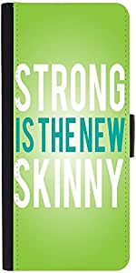 Snoogg Strong Is The New Skinny Designer Protective Phone Flip Case Cover For Lenovo Vibe X2