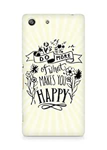 AMEZ do more of what makes you happy Back Cover For Sony Xperia M5