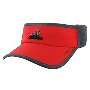 adidas Men's adiZero II Visor, Bright Red/Vista Grey, One Size