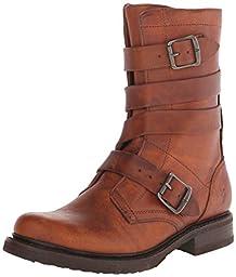 FRYE Women\'s Veronica Tanker-WSHOVN Engineer Boot,  Cognac, 8.5 M US