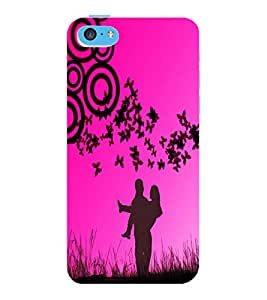 ColourCraft Love Couple Design Back Case Cover for APPLE IPHONE 5C