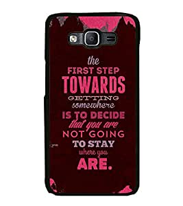 Fuson Premium 2D Back Case Cover Lovely quote With yellow Background Degined For Samsung Galaxy On5::Samsung Galaxy On5 G550FY
