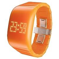 [オーディーエム]o.d.m 腕時計 illumi+(イルミプラス) デジタル表示 LEDディスプレイ フリースイッチ・タッチスライド機能搭載 オレンジ DD133-6 レディース 【正規輸入品】