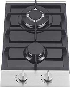 Ramblewood high efficiency 2 burner gas cooktop(Natural Gas), GC2-48N by Propane Stoves