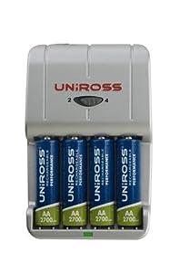 Uniross Smart Charger + 4 x AA 2700mAh Performance Batteries