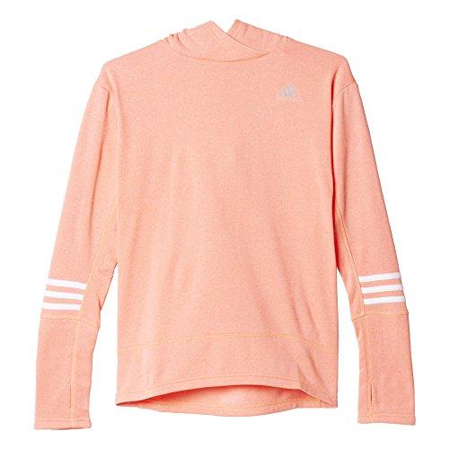 Adidas Rs Icon Hood W Felpa per Donna, Arancione/Bianco (Brisol/Bianco), S