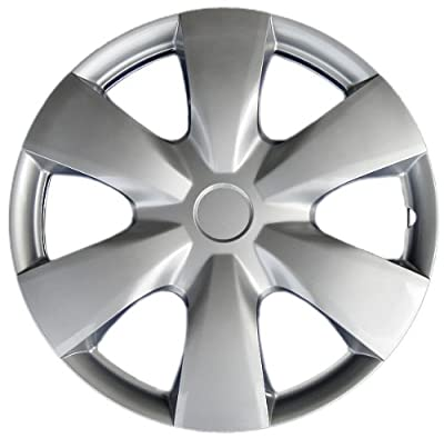 "Drive Accessories KT-1008-15S/L, Toyota Yaris, 15"" Silver Replica Wheel Cover, (Set of 4)"