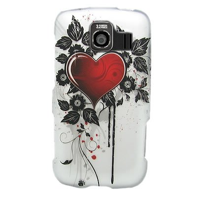 Hard Snap-on Shield RUBBERIZED With SACRED HEART Design Faceplate Cover Sleeve Case for LG LS670 OPTIMUS S (SPRINT) [WCB405]