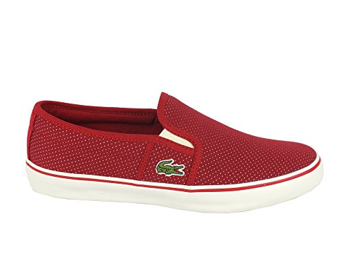 LACOSTE Gazon slip on donna TEESUTO DARK RED ROSSO 7-31SPW0027112 37