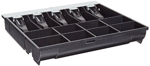 APG VPK-15B-10-BX Vasario Series Standard-Duty Till for Cash Drawer, 5 Bill Compartments, 8 Coin Compartments, 14.2