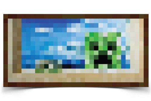 Minecraft Creeper Window Video Game Poster