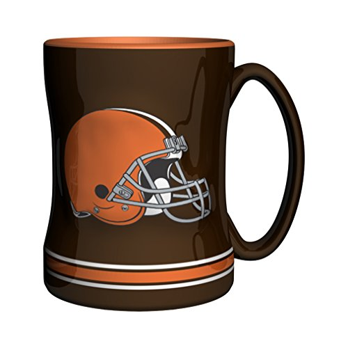 Nfl Cleveland Browns Sculpted Relief Mug, 14-Ounce