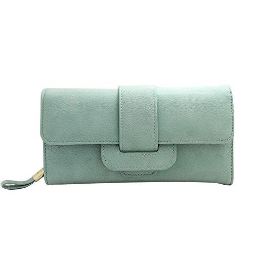 Longra Le donne sacchetto della carta borsetta Holder Qualità (Verde)