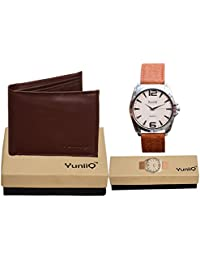 Combo Pack Of YuniiQ Brown Wallet & YuniiQ Formal Wrist Watch. - B01F0XOFH0