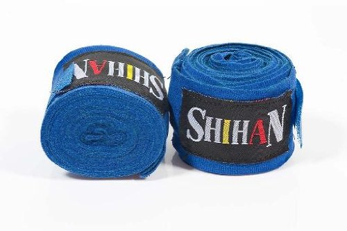 Boxing Hand Wraps - 'SHIHAN- MAX' BLUE - PAIR - 1