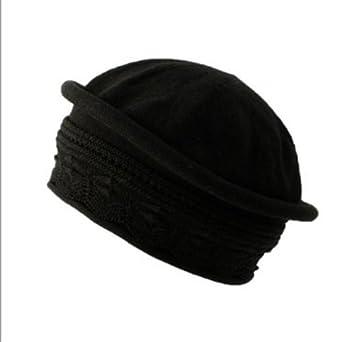 Parkhurst Pointelle Beret Topper (Black)