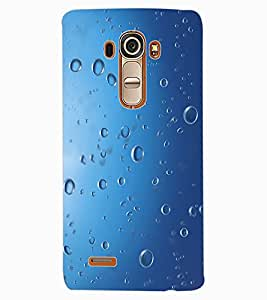 ColourCraft Water Drops Design Back Case Cover for LG G4