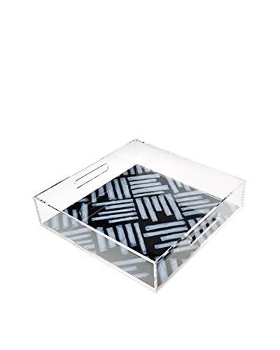 zestt Evo Acrylic Tray, Black Crowded Contrast & Dilemma, 12 x 12