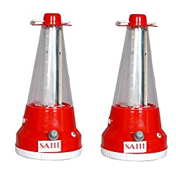 Sahi Rechargeable cone ( Red ) emergency light - Set of 2