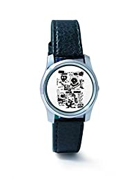 BigOwl Is It A Car Or A Cat Painting Women's Analog Wrist Watch 2114884536-RS2-S-BLK