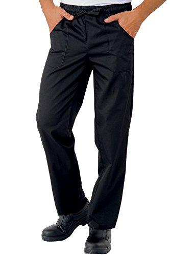 044601 Pantalone con elastico Nero per Abbigliamento per la cucina per Abbigliamento per settori sanitario, benessere ed estetico per Divise ufficiali Federazione Italiana Cuochi FIC Donna Uomo Pantaloni