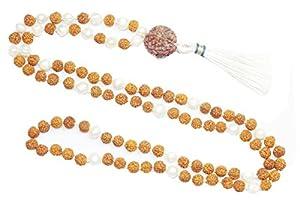 SHIVA SHAKTI Healing Meditation Mala Rudraksha Pearl Beads Japamala Yoga Necklace Beads