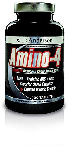 Integratore Anderson Amino-4 Complex 200 cpr Aminoacidi Ramificati 2:1:1 Formula anabolica Leucina - Isoleucina - Valina - Arginina AKG - Vitamina b6