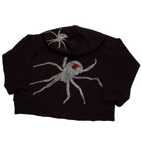 Lollipop Moon Rhinestone Spider Hooded Jacket front-845048