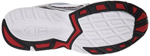 Fila Men's Xtent 2 Running Shoe, White/Black/Fila Red, 11 M US