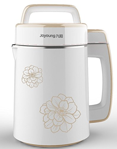 BONUS PACK! Joyoung CTS-2038 Easy-Clean Automatic Hot Soy Milk Maker (Full Stainless Steel & Large Capacity 1700ML) with FREE Tofu Coagulant