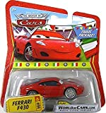 Disney / Pixar CARS Movie 1:55 Die Cast Car Series 3 World of Cars Ferrari F430 in Italian Package Chase Piece!