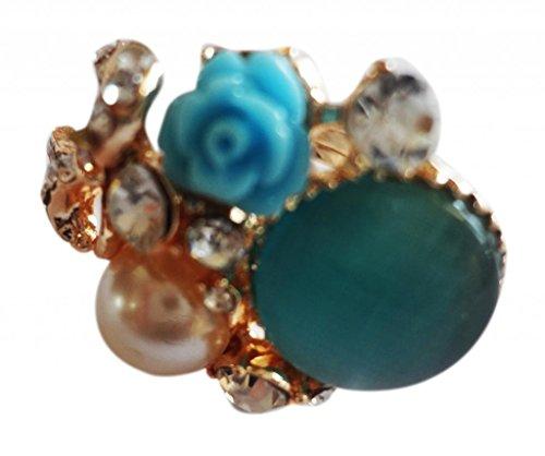 SUVI'S Pearl Floral Ring (multicolor)
